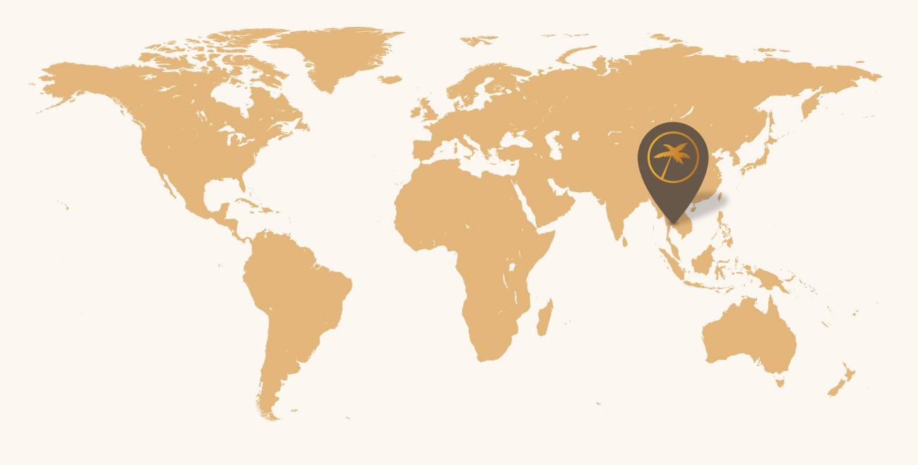 Mapa Thajsko